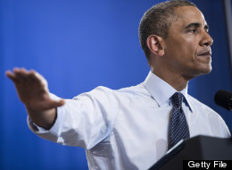 U.S. President Barack Obama speaks at University of Central Missouri July 24, 2013 in Missouri. (BRENDAN SMIALOWSKI/AFP/Getty Images)