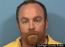 Kurtis Worley, 33, reportedly gave police a full taped confession in which he admitted to killing his wife after she refused to have sex with him. (DuPage Police)