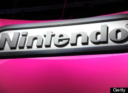 The Nintendo logo is seen on the final day of the E3 Electronic Entertainment Expo, in Los Angeles, California June 13, 2013.     AFP PHOTO / ROBYN BECK        (Photo credit should read ROBYN BECK/AFP/Getty Images)