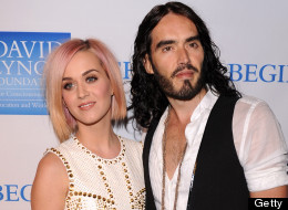 Russell Brand reportedly joked about his sex life with Katy Perry at a recent show in London. Here, the two appear in 2011 in Los Angeles. (JB Lacroix/WireImage)