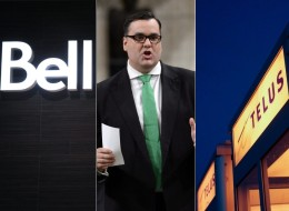 Industry Minister James Moore is now in an all-out war of words with Canada's big three telecoms over Verizon's possible entry into Canada. (Composite image: Canadian Press photos)