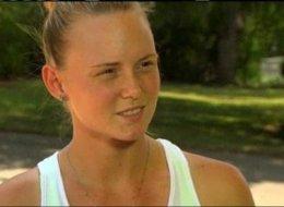 Sarah Harper, girlfriend of slain baseball player Christopher Lane.