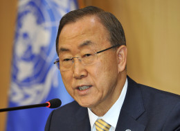 U.N. Secretary-General Ban Ki-moon said Thursday called for restraints until weapons inspectors could finish collecting evidence from an apparent chemical attack in Syria that killed hundreds of people. (Photo by Truth LEEM/AFP/Getty Images)