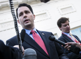 Wisconsin Gov. Scott Walker said he still hopes to achieve his 2010 campaign goal of creating 250,000 new jobs by January 2015. (Brendan Smialowski/AFP/Getty Images, File)