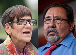 Reps. Rosa DeLauro (D-Conn.) and Raúl Grijalva (D-Ariz.) both support comprehensive immigration reform. (Photos By Bill Clark/Roll Call)