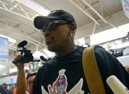Former NBA basketball player Dennis Rodman headed back to Pyongyang to see North Korean leader Kim Jong-Un. (Photo by WANG ZHAO/AFP/Getty Images)
