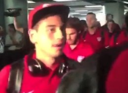 Hostil recibimiento en Costa Rica a la selección de Estados Unidos