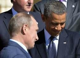 El Presidente ruso Vladimir Putin y el Presidente de Estados Unidos, Barack Obama.