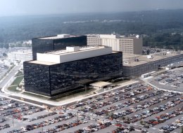 National Security Agency (NSA) headquarters in Fort Meade, Maryland. A secret court authorization allows the NSA to spy on all of the world's countries except four, one of them being Canada, according to U.S. government documents.