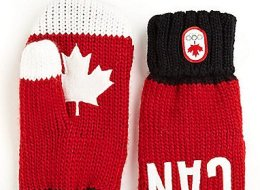 The Hudson's Bay Company and Canada Olympic Team unveiled the 2014 edition of the now-iconic red mittens on Tuesday.  (HBC)
