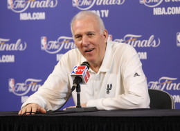 Head coach Gregg Popovich of the San Antonio Spurs answers questions during the pre game press conference against the Miami Heat prior to Game Seven of the 2013 NBA Finals on June 20, 2013 at American Airlines Arena in Miami, Florida. NOTE TO USER: User expressly acknowledges and agrees that, by downloading and or using this photograph, User is consenting to the terms and conditions of the Getty Images License Agreement. Mandatory Copyright Notice: Copyright 2013 NBAE (Photo by Bruce Yeung/NBAE