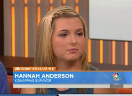 Hannah Anderson during her interview on the