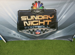 The NBC Sunday Night Football logo is shown during the Washington Redskins game against the Dallas Cowboys at Texas Stadium on September 17, 2006 in Dallas, Texas. The Cowboys defeated the Redskins 27-10.  (Photo by Ronald Martinez/Getty Images)
