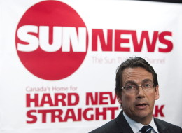 Then Quebecor Media Inc. CEO Pierre Karl Peladeau addresses a news conference in Toronto, Tuesday, June 15, 2010 to launch the Sun TV News Channel. (CP)