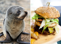 Quebec restaurant owner Kim Côté introduced a seal burger on his menu without much controversy until visiting French tourists didn't find it very funny. (Getty/Facebook)