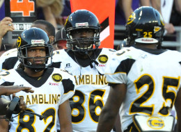 Grambling State players on the sideline during the first half against Texas Christian at Amon G. Carter Stadium in Fort Worth, Texas, on Saturday, September 8, 2012. TCU routed Grambling State, 56-0. (Max Faulkner/Fort Worth Star-Telegram/MCT via Getty Images)