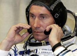Russian cosmonaut Sergey Krikalev in 2005