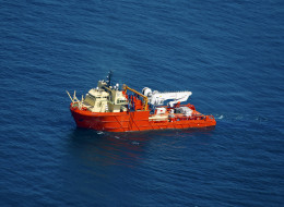 The Edison Chouest Offshore (ECO) vessel Holiday sails near the BP Plc Macondo well site in the Gulf of Mexico. (Derick E. Hingle/Bloomberg via Getty Images)