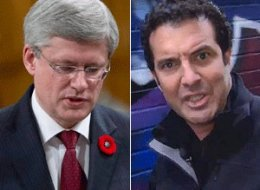 Rick Mercer has a suggestion for Prime Minister Stephen Harper: either answer fair questions about the Senate scandal or hit the road. (YouTube/CP)