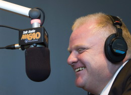Rob Ford speaks on air with Talk Radio AM 640 host John Oakley in Toronto on Wednesday, October 27, 2010.