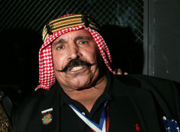 Wrestler the Iron Sheik  challenged Toronto Mayor Rob Ford to a fight. (Photo by Neilson Barnard/Getty Images for GQ)