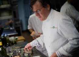 Chicago chef Charlie Trotter, seen in this photo from September 1, 2011, died last week. The 54-year-old chef was found unconscious and not breathing in his Lincoln Park home. His memorial service is Monday. (Alex Garcia/Chicago Tribune/MCT via Getty Images)