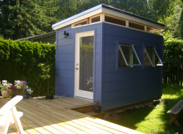 Westcoast Outbuildings provided the parts for this backyard bedroom in New Westminster. Demand for backyard living and working spaces is spiking around Metro Vancouver.