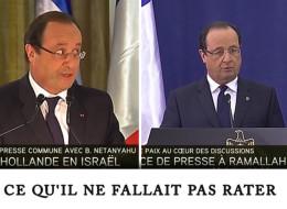 François Hollande au côté du président de l'Autorité palestinienne Mahmoud Abbas