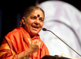 Vandana Shiva speaks in Porto Alegre, Brazil on May 28, 2012. ( Photo by Alexandro Auler/LatinContent/Getty Images)
