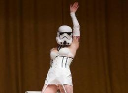 This sexy stormtrooper is just one of many routines that Rio Theatre audiences will enjoy in