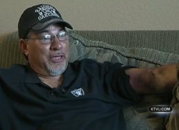 Former Marine Donnie Navidad is being hailed as a hero for breaking fall of stadium jumper.