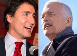 Justin Trudeau has been accused of crossing a line by paraphrasing the last words of late NDP leader Jack Layton shortly after a Liberal candidate won the Bourassa byelection. (CP)