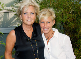 Meredith Baxter and her partner actress Nancy Locke attend 'Outfest VIP Women's Soiree' at Gallery Lofts on June 24, 2012 in Los Angeles, California.  (Photo by Beck Starr/WireImage)
