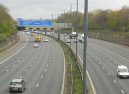 Neal Marshall was seen masturbating as he drove naked on the M56 (file picture)