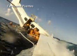 Impactantes imágenes de cómo se estrella el avión en Hawai.