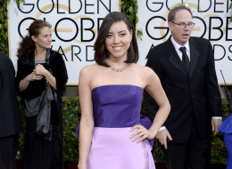 BEVERLY HILLS, CA - JANUARY 12:  71st ANNUAL GOLDEN GLOBE AWARDS -- Pictured: Actress Aubrey Plaza arrives to the 71st Annual Golden Globe Awards held at the Beverly Hilton Hotel on January 12, 2014 --  (Photo by Kevork Djansezian/NBC/NBC via Getty Images)