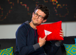 This undated image released by YouTube Nation shows host Jacob Soboroff on the set of