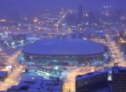 The Metrodome roof has been deflated.