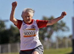 Vancouver resident Olga Kotelko is 94 years old and set to compete in at least one track meet every month this year.
