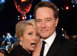 LOS ANGELES, CA - JANUARY 18:  Actress Emma Thompson Bryan Cranston attend the 20th Annual Screen Actors Guild Awards at The Shrine Auditorium on January 18, 2014 in Los Angeles, California.  (Photo by Dimitrios Kambouris/WireImage)