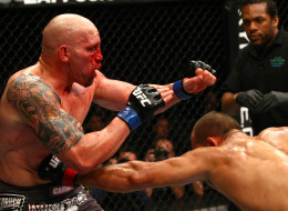 Junior Dos Santos punches Shane Carwin during a heavyweight bout at UFC 131 at Rogers Arena on June 11, 2011 in Vancouver. UFC has not confirmed whether it will host another event in the city.