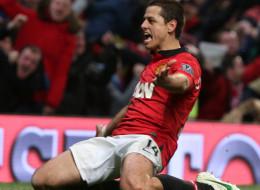 Javier 'Chicharito' Hernandez del Manchester United anotó gol ante