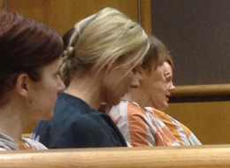 Tieja MacLaughlin has pleaded not guilty to harassing her hockey player boyfriend.