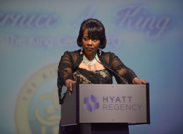 ATLANTA, GA - JANUARY 18:  Dr. Bernice King onstage at the 2014 Salute To Greatness Awards Dinner at the Hyatt Regency on January 18, 2014 in Atlanta, Georgia.  (Photo by Paras Griffin/Getty Images)