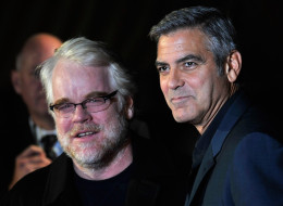 Philip Seymour Hoffman and George Clooney attend