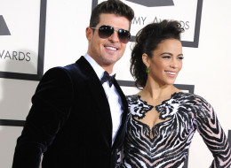 Robin Thicke and Paula Patton are separating. Here, they two arrive at the 56th GRAMMY Awards on January 26, 2014 in Los Angeles, California.  (Photo by Steve Granitz/WireImage)