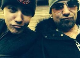 A photo of Justin and Jeremy Bieber posted to twitter
