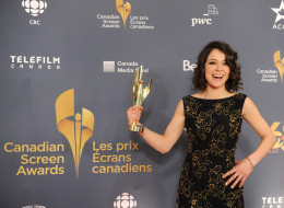 TORONTO, ON - MARCH 09:  Tatiana Maslany, winner of the Best Perfomance by an Actress in a Continuing Leading Dramatic Role poses in the press room at the 2014 Canadian Screen Awards at Sony Centre for the Performing Arts on March 9, 2014 in Toronto, Canada.  (Photo by George Pimentel/WireImage)