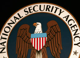 Fort Meade, UNITED STATES:  (FILES): Thyis 25 January 2006 file photo shows the logo of the National Security Agency (NSA) at the Threat Operations Center inside the NSA in the Washington suburb of Fort Meade, Maryland, where US President George W. Bush delivered a speech behind closed doors and met with employees in advance of Senate hearings on the much-criticized domestic surveillance. The US National Security Agency has assembled the world's largest database of telephone records tracking the