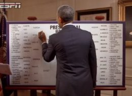 Obama's 2014 bracket is revealed.